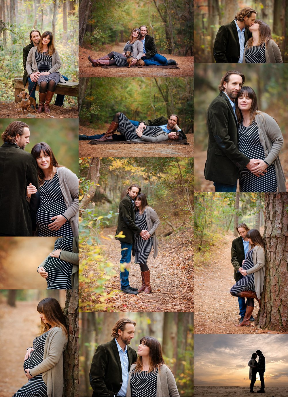 virginia-beach-photographers-first-landing-state-park-maternity-portraits-couple-poses-wooded-trails-and-beach