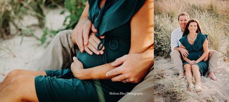 Virginia beach maternity photographer chicks beach session