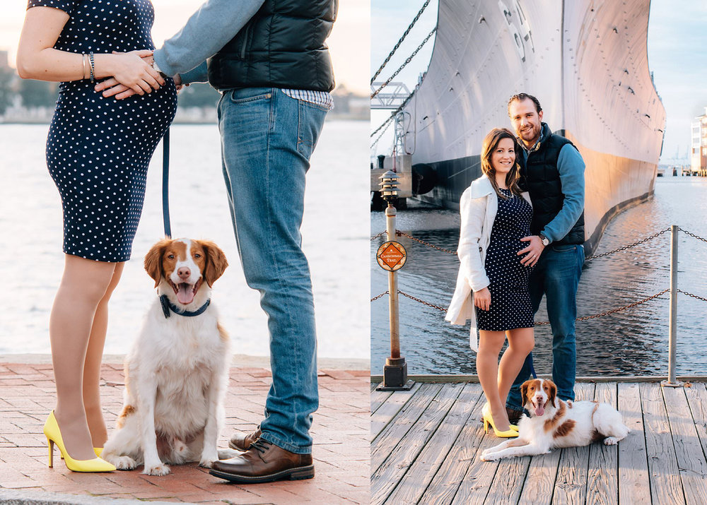 couple-with-brittany-spaniel-poses-for-maternity-photos-by-USS_Wisconsin-norfolk-VA-melissa-bliss-photography.jpg