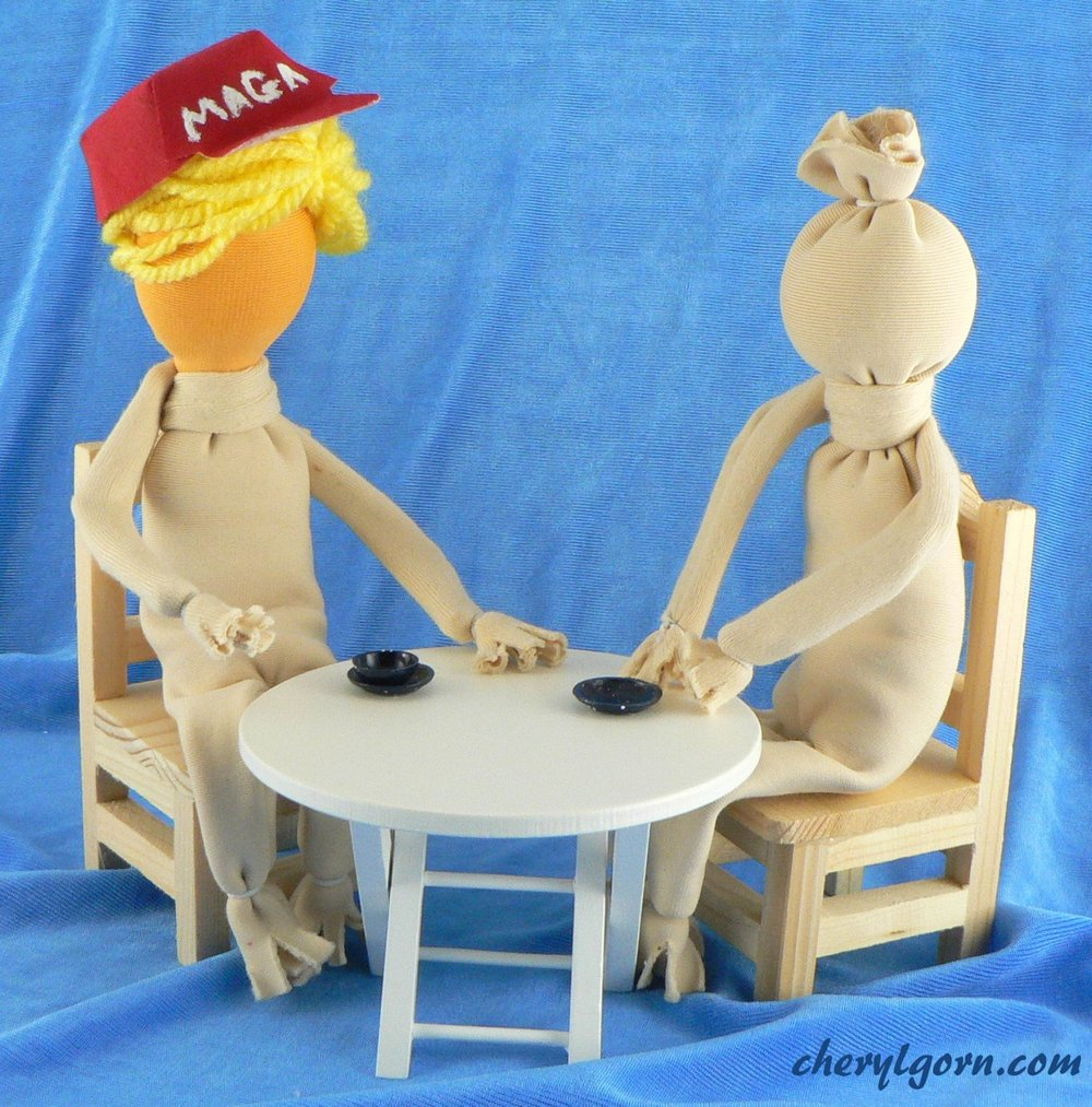 Grabber-in-Chief  - meets with Putin shortly before the United States midterm elections. I wonder what they were talking about. Russian Pastry?(I was inspired by this article)November 2018