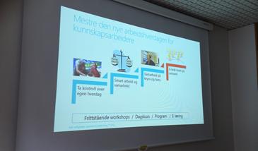 Lysbilde som vises på skjerm