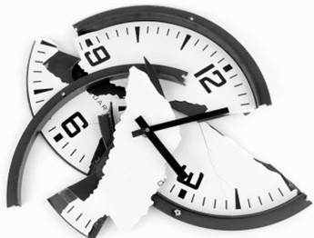 Sammenbrutt klokke