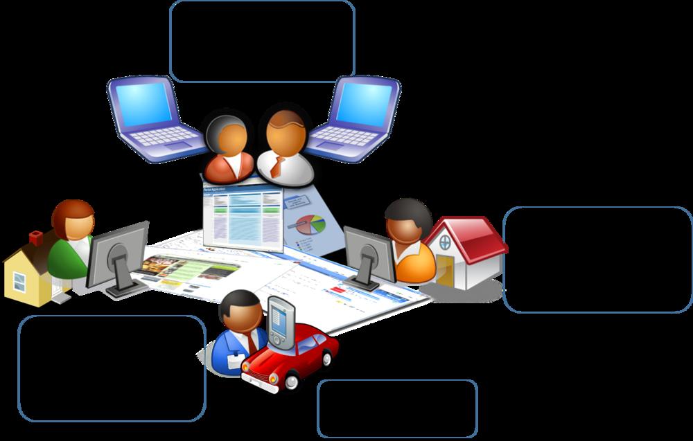 Bildet viser figur med møtedeltakere på ulike steder