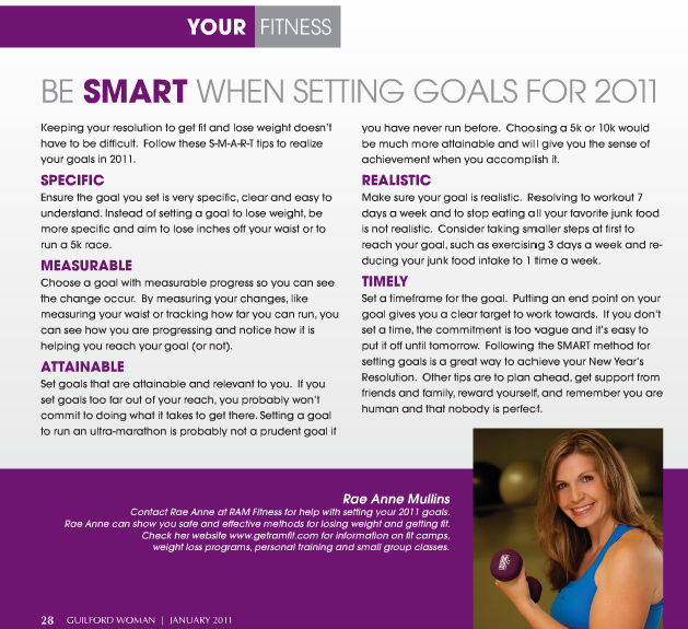 Setting spring goals - click to view larger