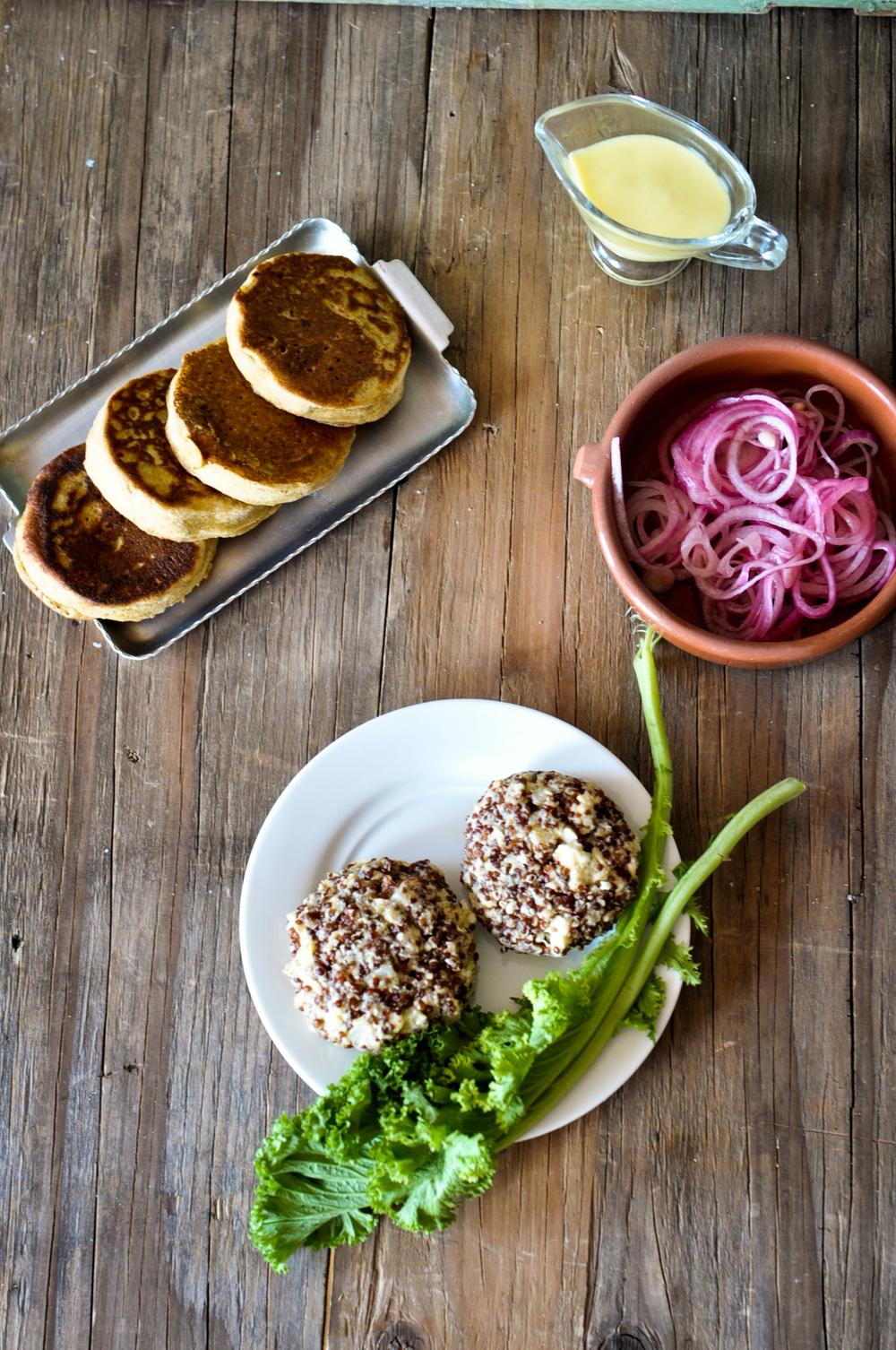 Vegetarian Quinoa Burgers