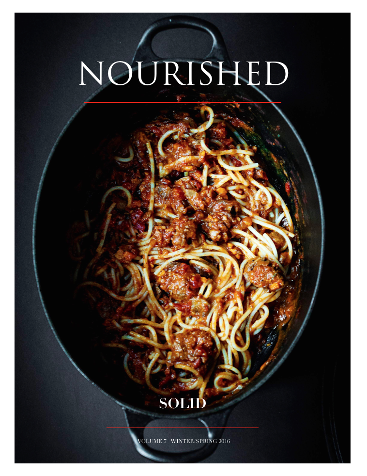 nourished magazine - SOLID - Vol. 6 Winter/Spring 2016
