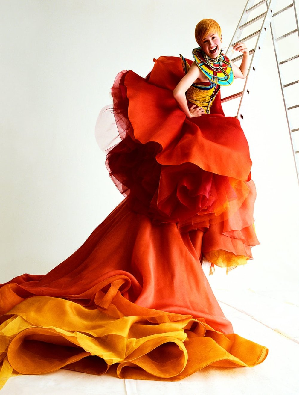 Spring/Summer 1997 Haute couture collection.  Photograph: Michael Thompson