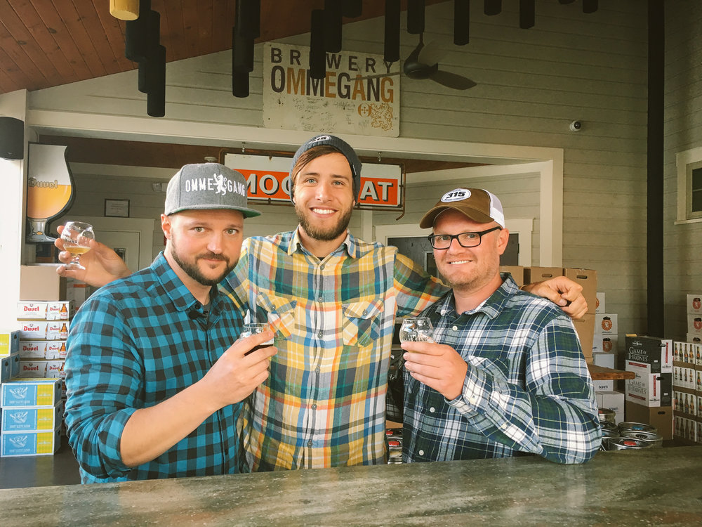 Jeremy Fultz (host of Turning Craft), Cory, and Justin at Brewery Ommegang in Cooperstown, NY. We got to speak to the CEO and Brewmaster about their relationship with HBO's Game of Thrones.