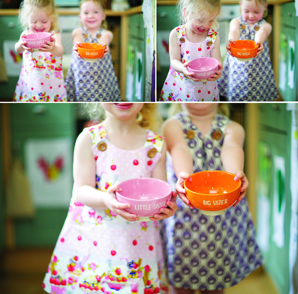 BIG SISTER BOWL:   £10.00    //     LITTLE SISTER BOWL:   £10.00    //     PINK DRESS:   £25.00    //     PURPLE DRESS:   £25.00