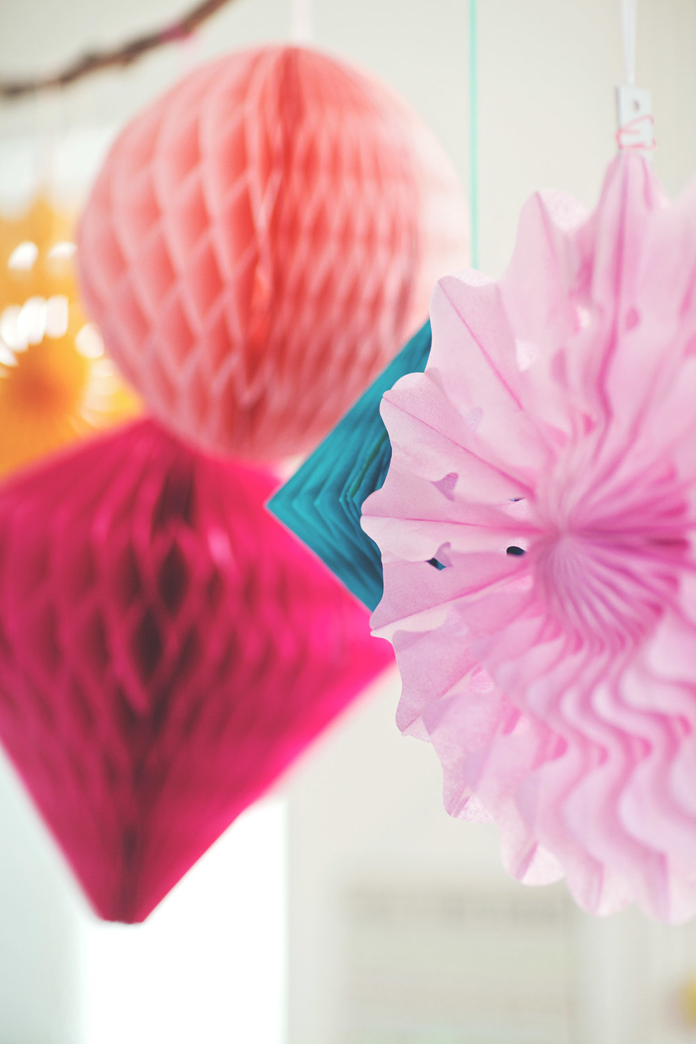 Hanging Honeycomb Decorations: From £6.50 (sold in packs of 3)