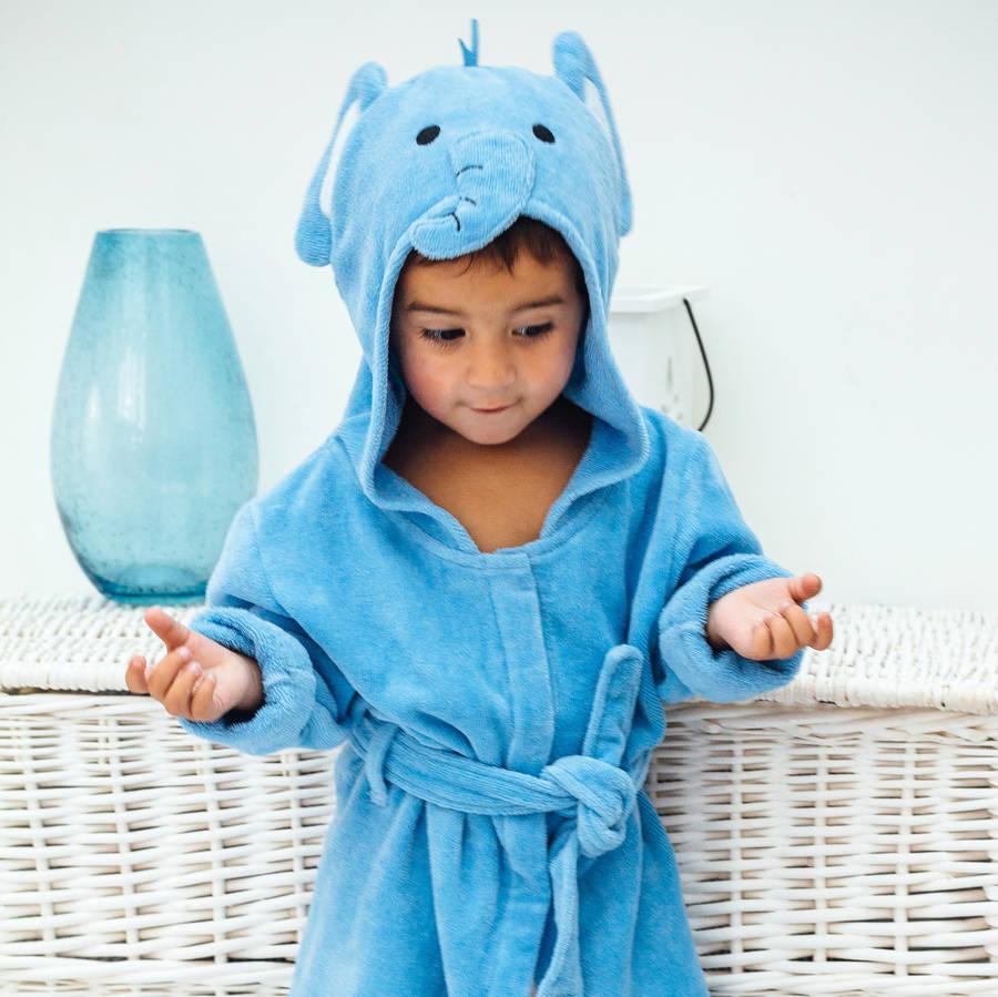 Elephant Soft Hooded Toddler Bath Robe — Calladoodles ee21463dd