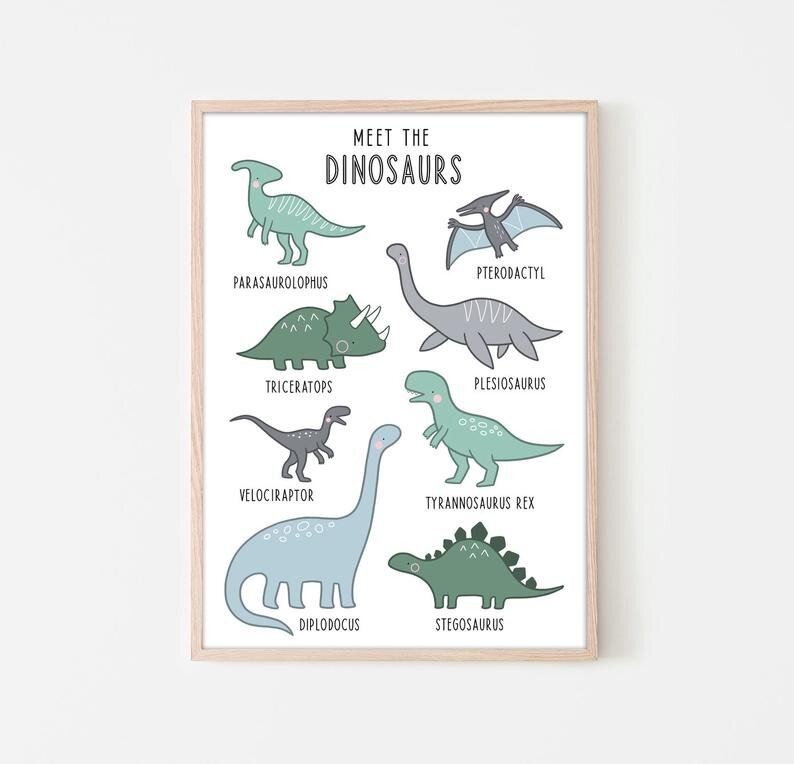 Dinosaur Print By The Freckled Penguin — Calladoodles