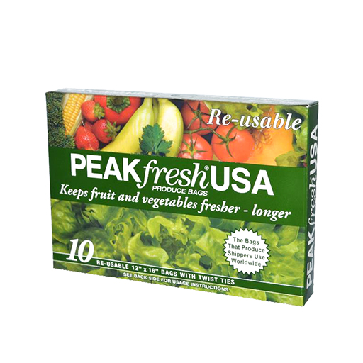 Green Produce Bags – Peak Fresh - Alright, we're starting off a little slow, but give Green Produce Bags a chance because they'll give your fruits and veggies new life. These certified organic bags are used by produce shippers worldwide to slow down the natural aging process of fruit and vegetables. Stuff someone's stocking with these and you're guaranteeing them longer lasting produce; how fresh is that?