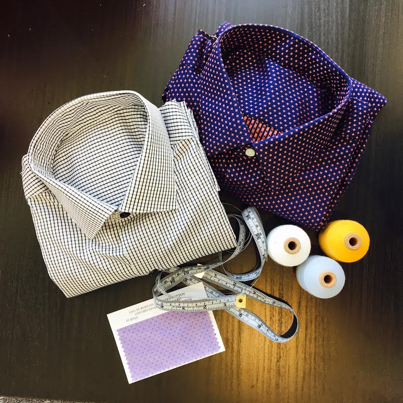Our Bespoke Shirts are made one at a time by one of the oldest shirt makers in the U.S.
