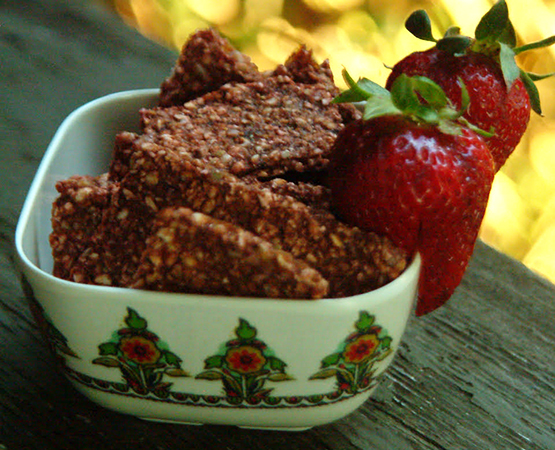 Strawberry Buckwheat Wafers