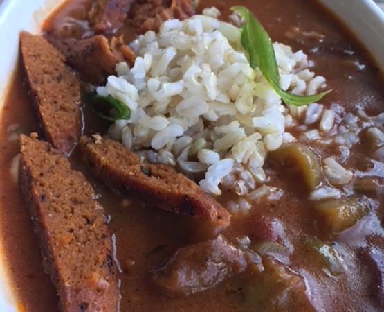 Veggie Gumbo with Spicy Seitan