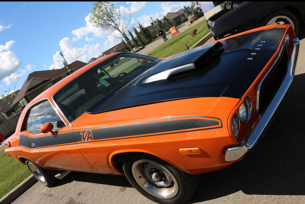 1972 Dodge Challenger  340 automatic 8 3/4 rear end Vitamin C orange Owned for 14 years
