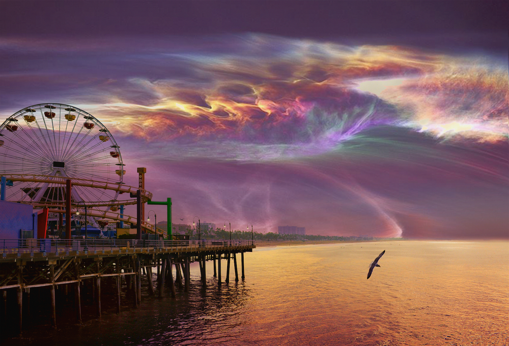 PURPLE HAZE AT THE SANTA MONICA PIER