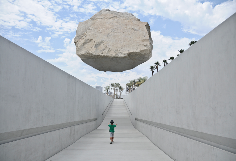 FLOATING ROCK AT LACMA