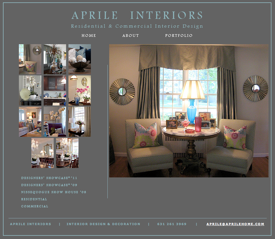Aprile Home Interior Design - Website Design
