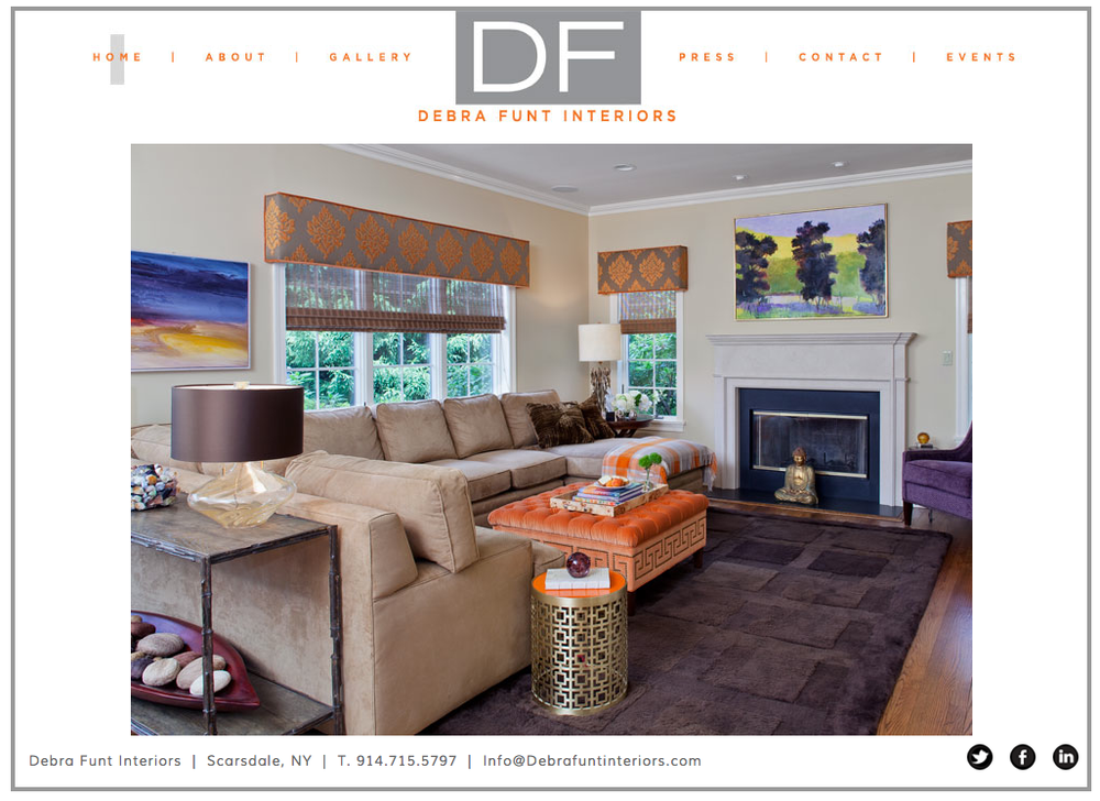 Debra Funt Interiors - Website Design