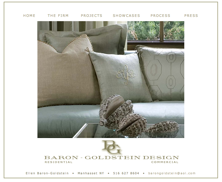 Baron Goldstein Design - Website Design