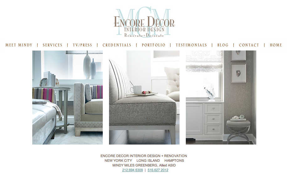 Encore Decor - Website Design