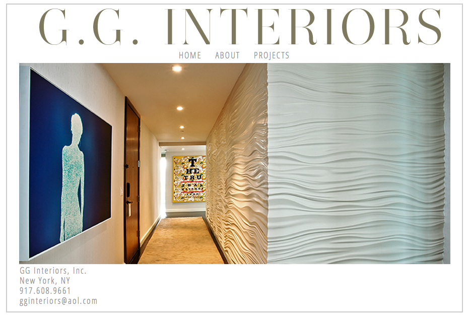 GG Interiors - Website Design