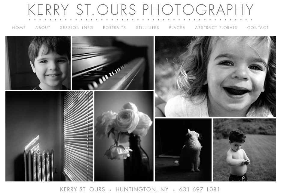 Kerry St. Ours Photography - Website Design
