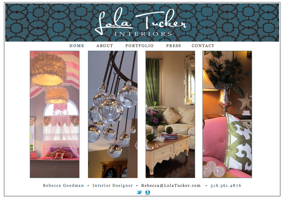 Lola Tucker Interiors - Website Design