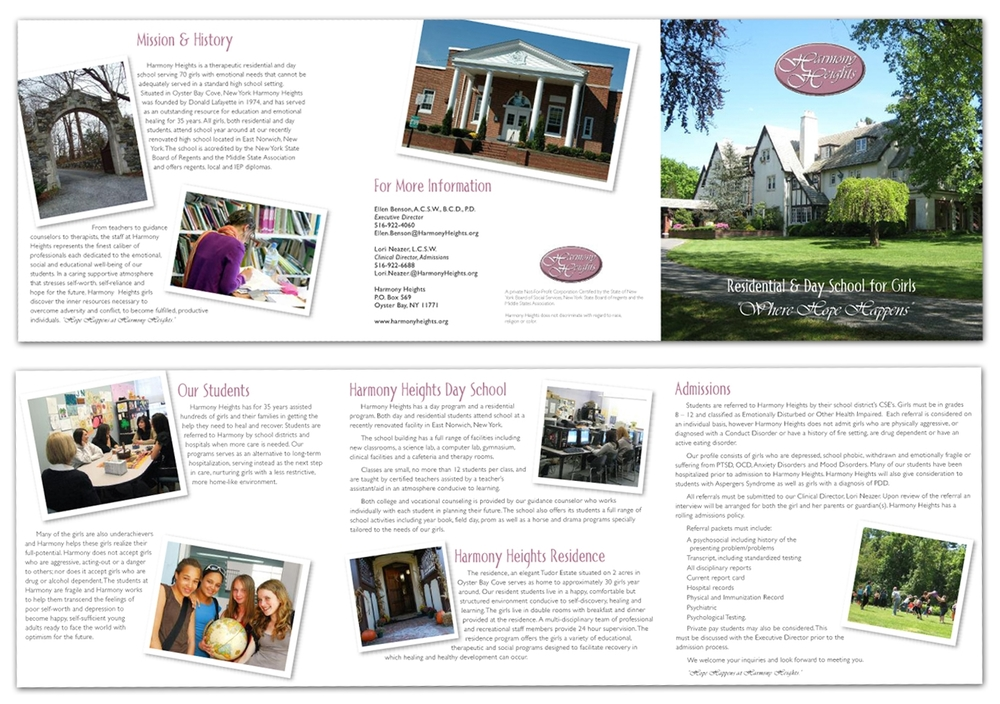 Harmony Heights - Brochure Design