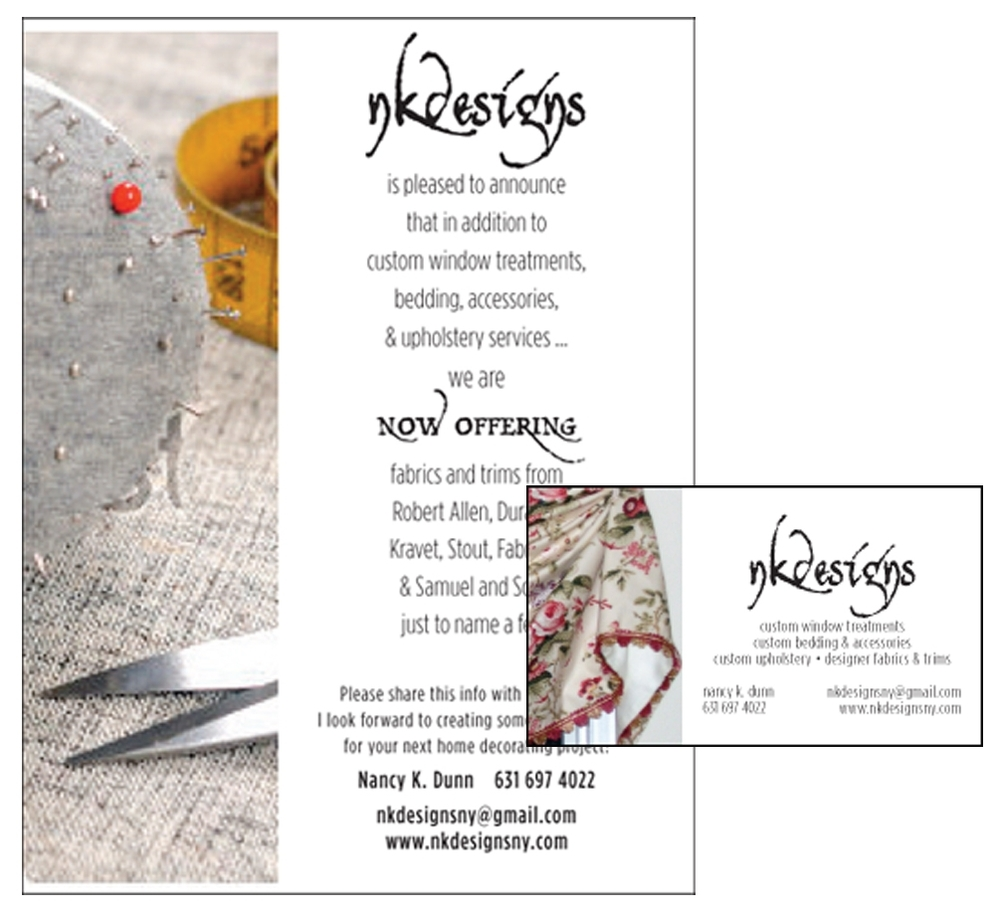 NK Designs - Print Ad - Business Card Design