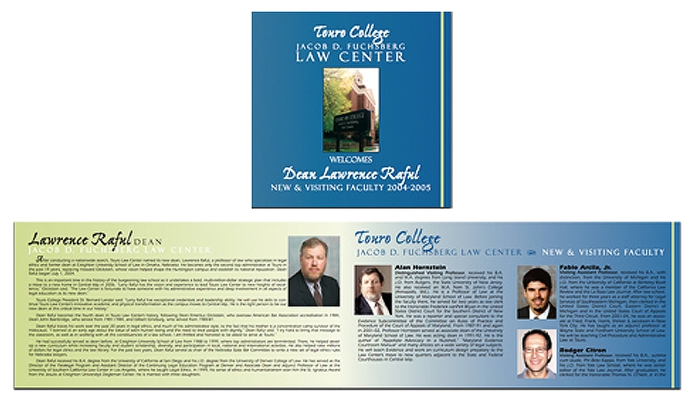 Touro Law School - Brochure Design