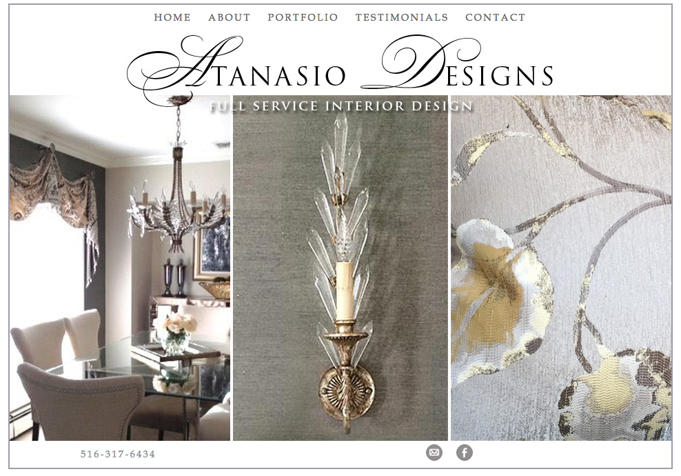 Atanasio Designs - Website Design