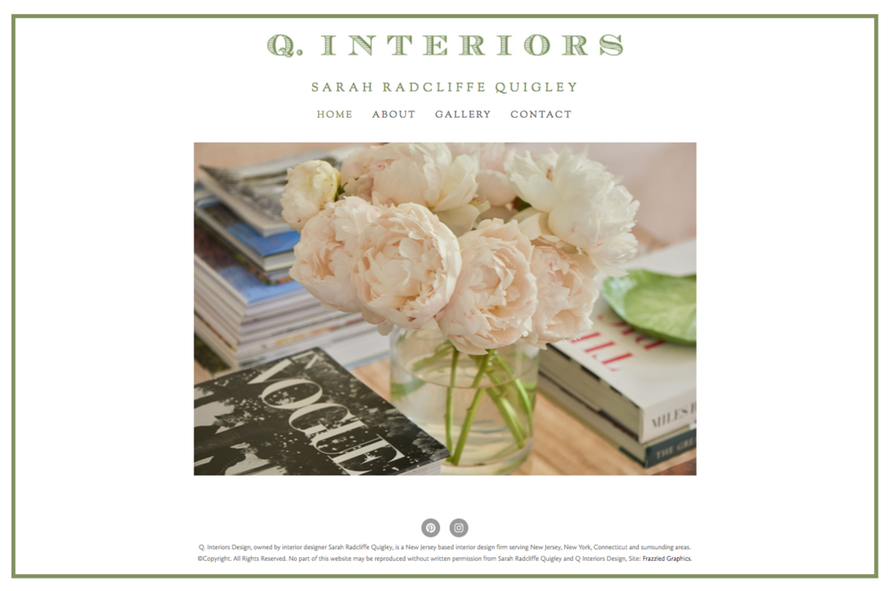 Q Interiors Design - Website Design