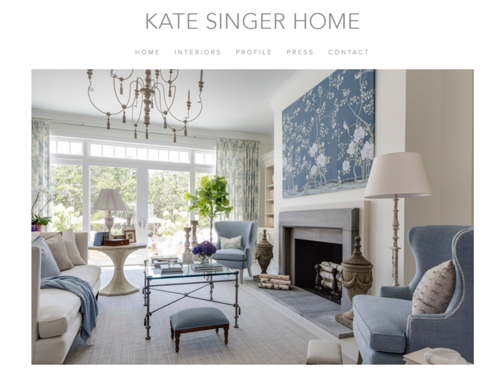 Kate Singer Home - Website Design
