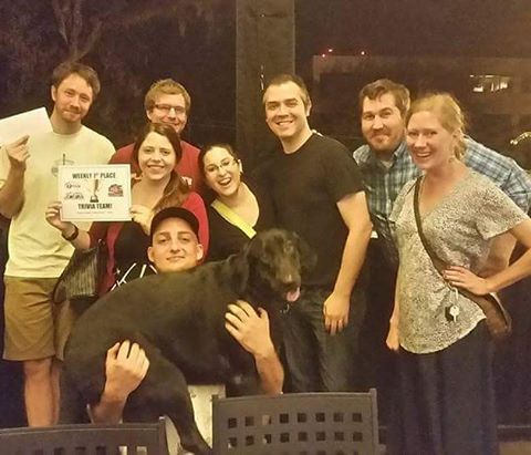 Last week's @midtowncaboose First place #trivianight winners 😂😂😂 Hilarious team names!!! 1st: Brangelina's Foster Care (also voted Best Team Name) ($35) 2nd:  Men Without Phones ($25) 3rd: Harambe & Eggs ($15) #congratulations #trivianight #winning #teams #midtowncaboose #tallahassee #tally #trivia #thetriviafactory #fun #beer #wine #prizes #drinking #games #teamtrivia #beerisgood #pubquiz #entertainment #nationwide #instagood
