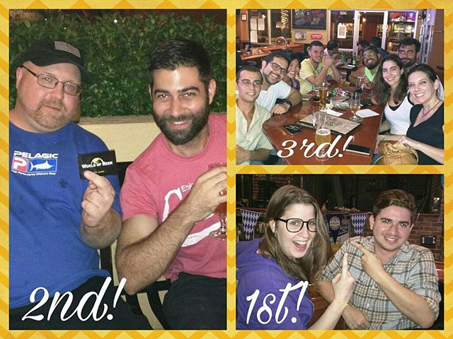 Last week's #trivianight winning teams from @wob_kendall #Cheers 🍻 #HappyMonday #thetriviafactory #monday #trivia #game #beer #fun #prizes #drinking #wine #beergeek #beerisgood #brew #brewing #draft #craftbeer #instagood #supportlocalbreweries #drinklocal #wob #wobkendall #worldofbeer #kendall #townandcountry