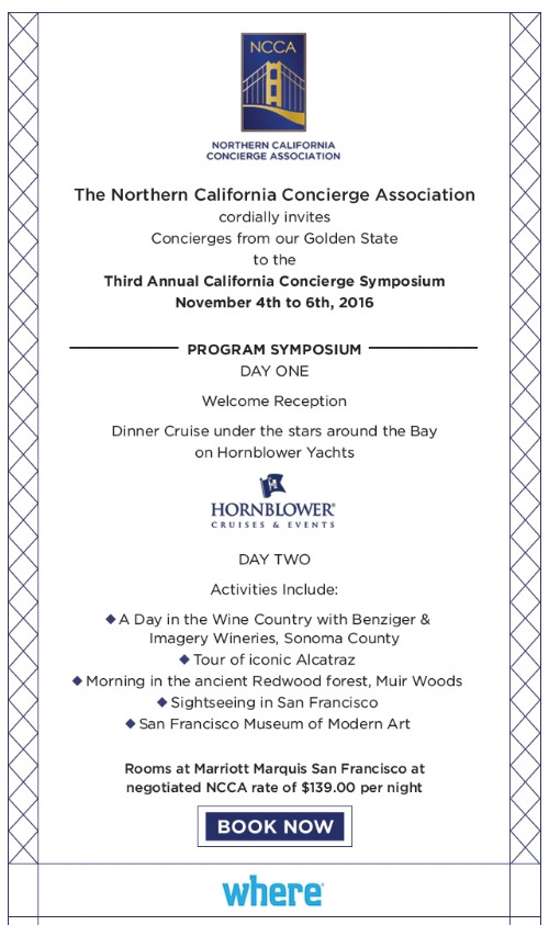 3rd Annual California Concierge Symposium Itinerary