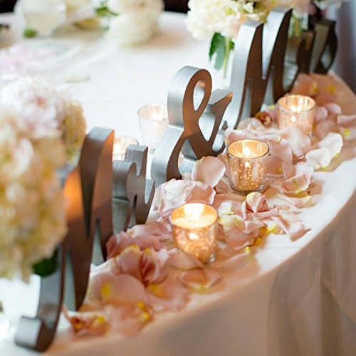 Mr & Mrs table letters