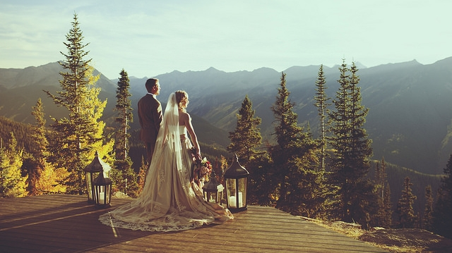 Aspen Colorado Wedding Deck Little Nell Destination Wedding