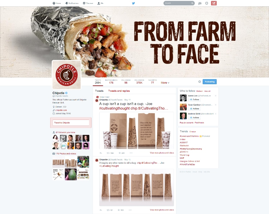 Chipotle on Twitter