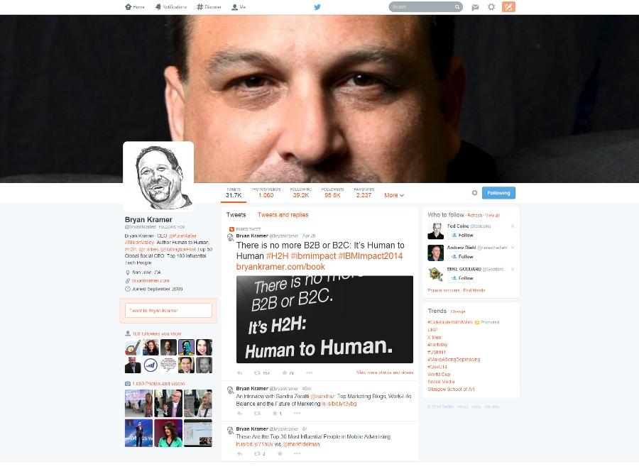 Bryan Kramer on Twitter