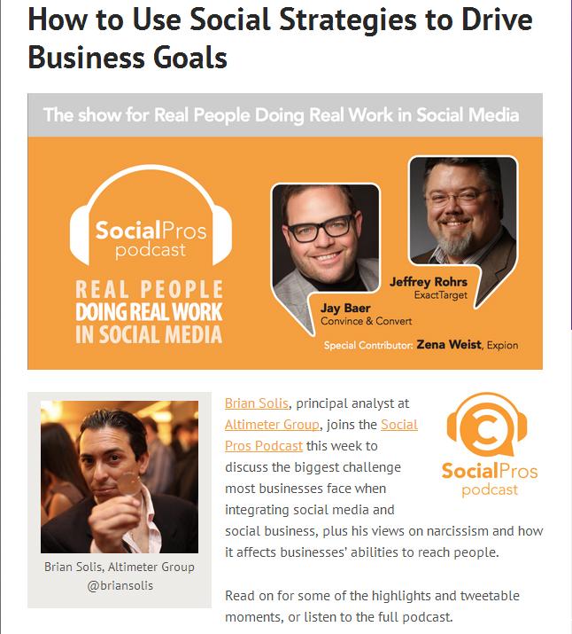 Social Media Strategy Social Pros Jay Baer Brian Solis