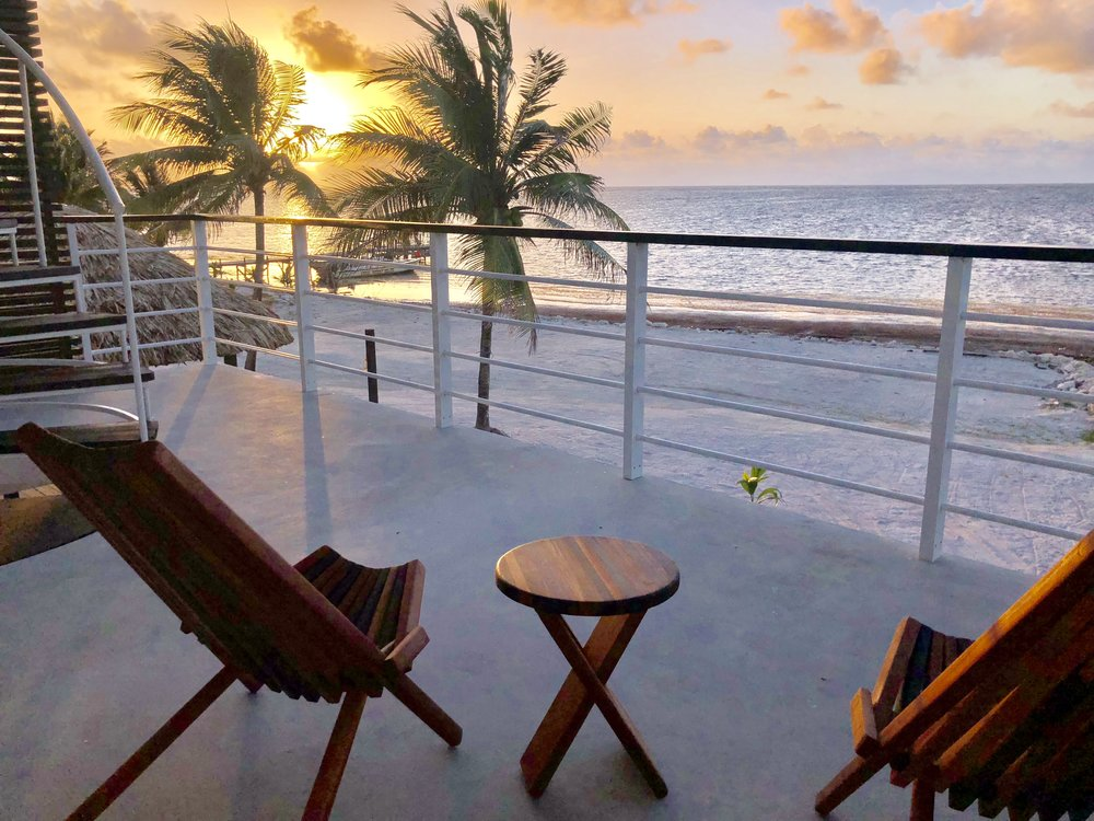 Third Coast Belize Master Balcony Sunrise Belize Vacation Rental.jpg