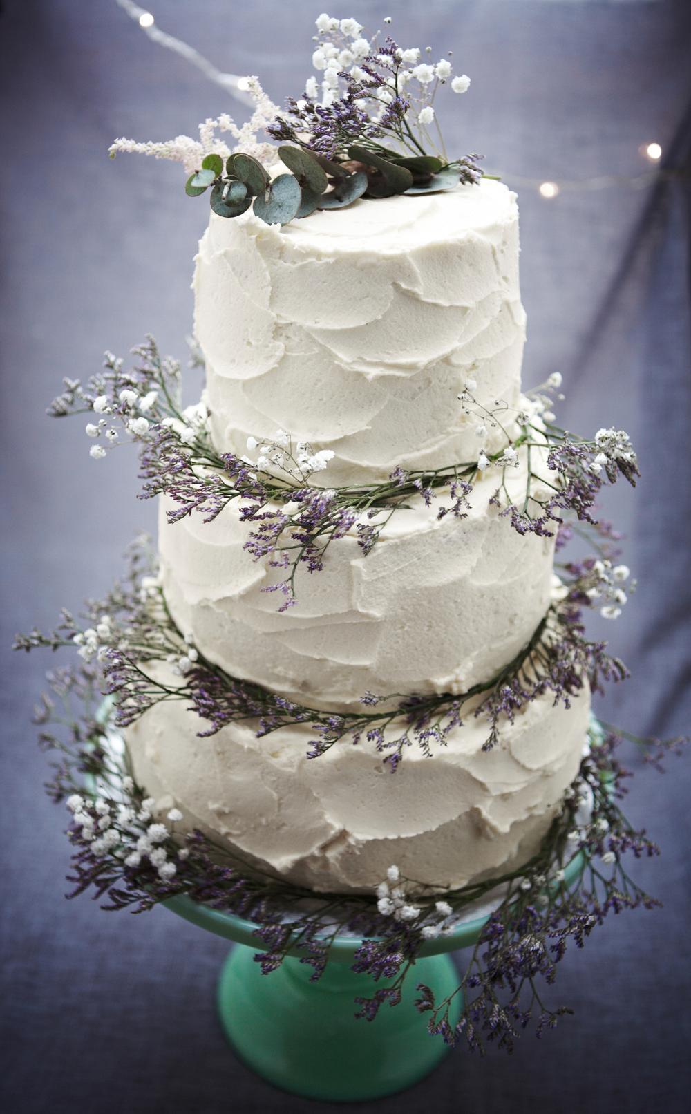 Textured 3 tier Wedding Cake