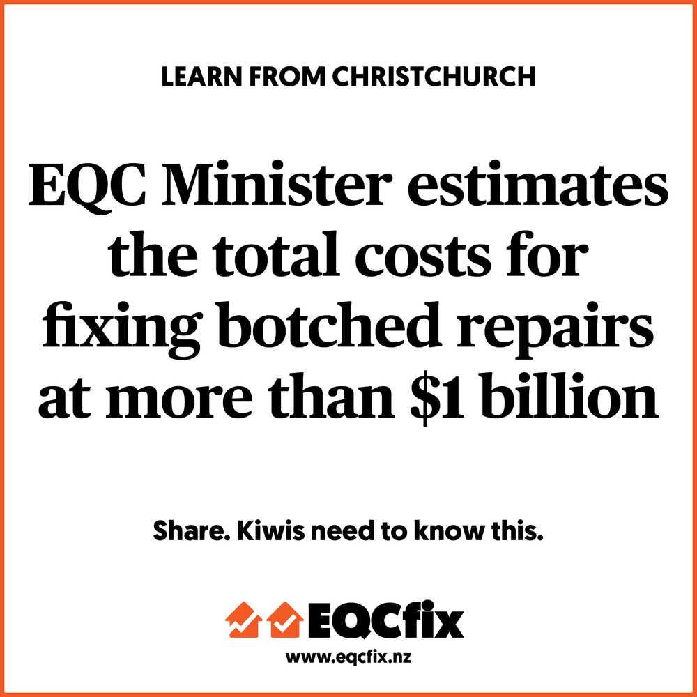 TOTAL COSTS FOR BOTCHED REPAIRS MORE THAN $1 BILLION?