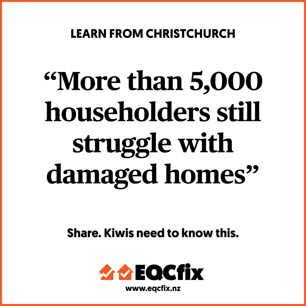 MORE THAN 5,000 HOUSEHOLDERS STILL STRUGGLE. THIS IS NOT OK.