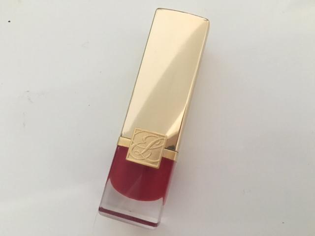 Estee Lauder Pure Color Lasting Creme in Scarlet Siren.