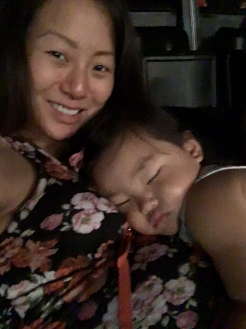 Halie had fallen asleep by the time the concert started... Miss the days when she fell asleep on my chest. 'Twas a sweet moment.